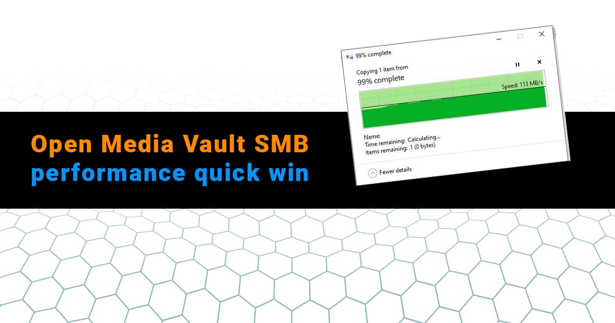 open media vault smb performance tuning