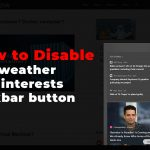 how to disable weather in taskbar